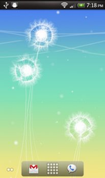 dandelion thumb - Seu Android mais bonito - Live Wallpapers ( Parte 1)