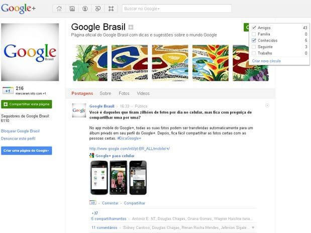 2102739 5627 rec - Google adiciona o recurso páginas no Google+