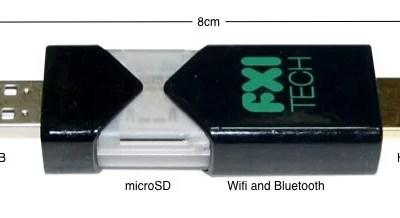 Cotton Candy FXI Tech pendrive computador computer - Um computador do tamanho de um pendrive