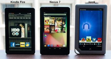 Nexus7kindleFireNook2 - Review Nexus 7: primeiras impressões, especificações e unboxing do novo tablet do Google