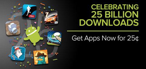 Google Play Store - Google Play faz promoção para comemorar 25 bilhões de downloads
