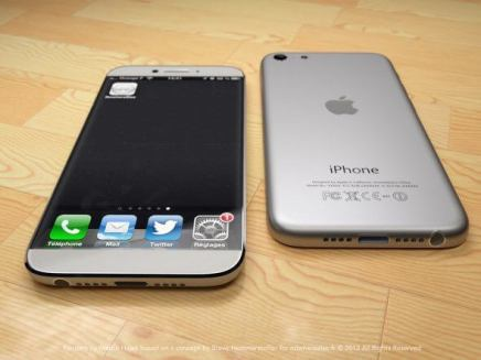 the silver and white model reminds us of the original iphone slimmed down1 - Como seria um iPhone 6 inspirado no iPad Mini?