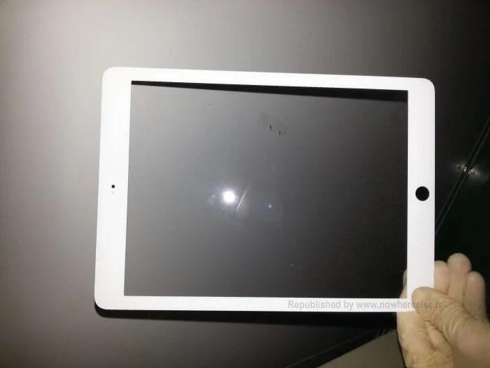 ipad 5 blanc 1 - iPad 5: possível frente vazada sugere bordas menores