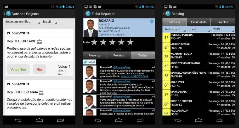 Aplicativo Monitora, Brasil! ajuda a acompanhar o trabalho de Deputados Federais