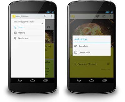 4 nav drawer - Atualização traz sistema de lembretes ao Google Keep