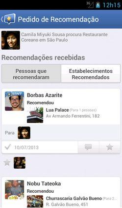 Captura de Tela 2013 08 03 às 19.52.43 - Aplicativo Kekanto permite pedir recomendação e marcar amigos