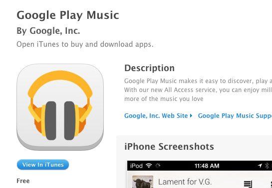 Captura de Tela 2013 11 16 às 18.59.53 - Google Play Music chega ao iOS com limitações
