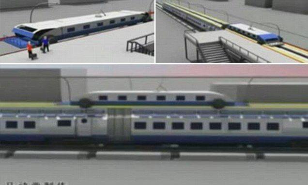 Designer chinês mostra trem que nunca pára 8