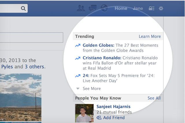 Trending Topics do Facebook