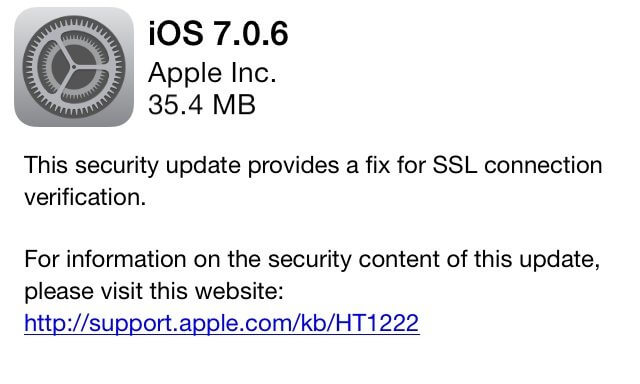 Apple SSL bug
