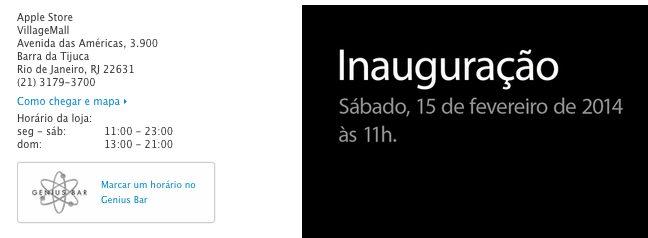Captura de Tela 2014 02 06 às 09.44.14 - Primeira Apple Store brasileira será inaugurada no dia 15