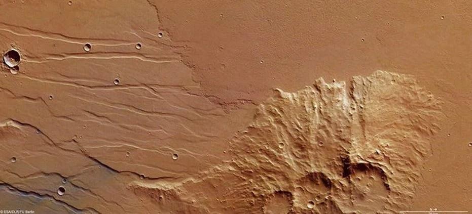 Agência Espacial Europeia encontra fluxo de lava antiga em região de Marte / ESA