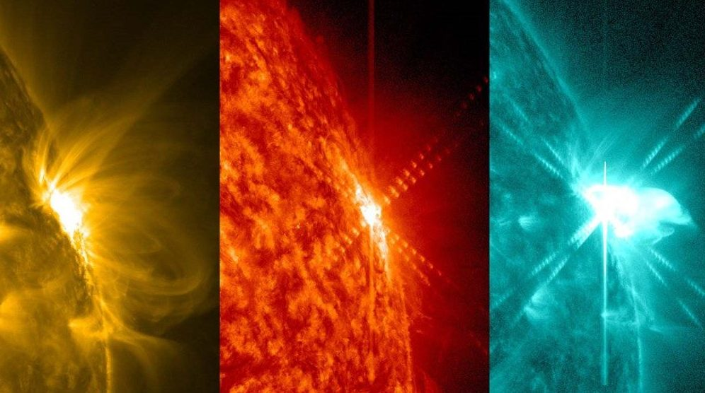 Erupção solar foi captada por observatório da NASA