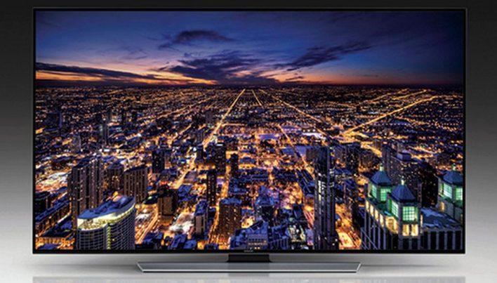 TV Samsung UHD com tela curva / reprodução
