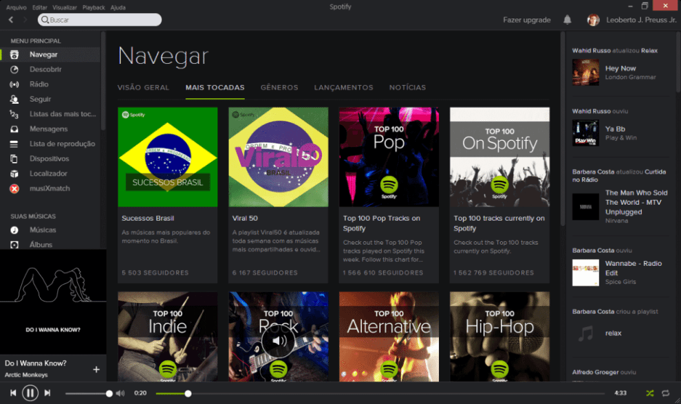 Aplicativo do Spotify para PC
