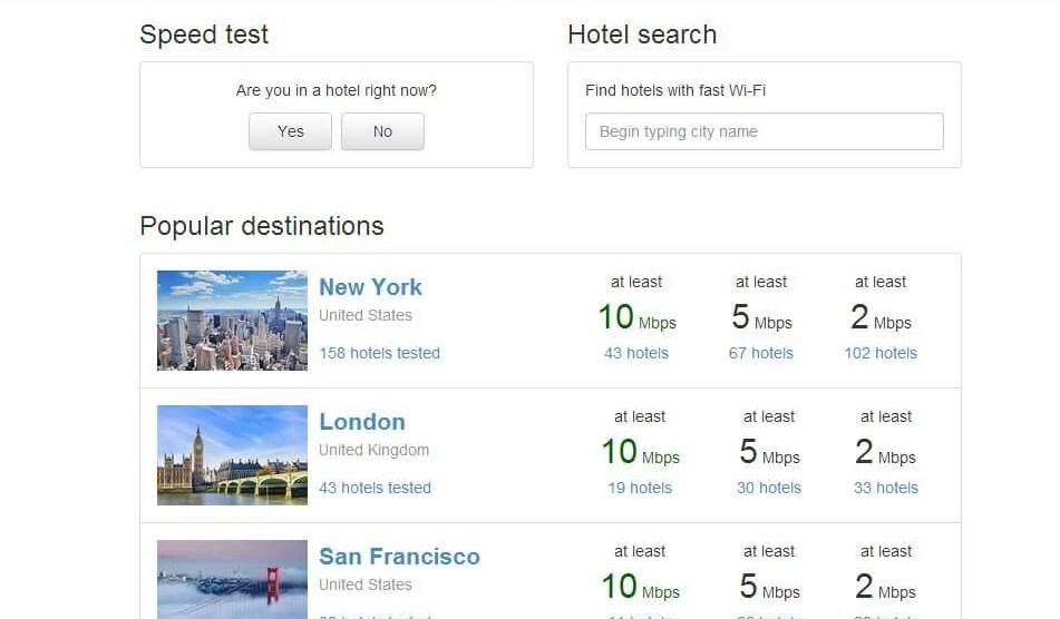 Descubra a qualidade da internet dos hotéis 3