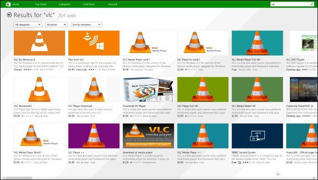 vlc apps windows store - Microsoft faz limpeza na Windows Store e remove mais de 1.500 apps