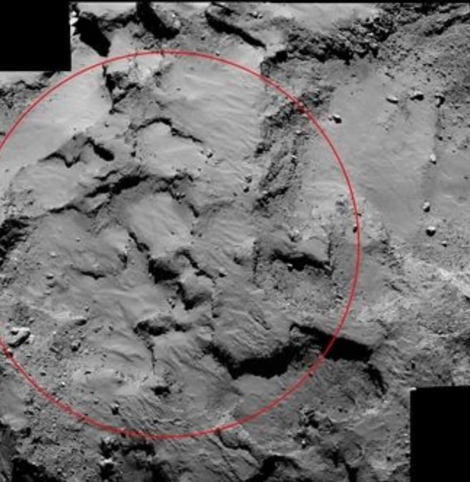 Sonda Rosetta tira foto do local de pouso em um cometa 4