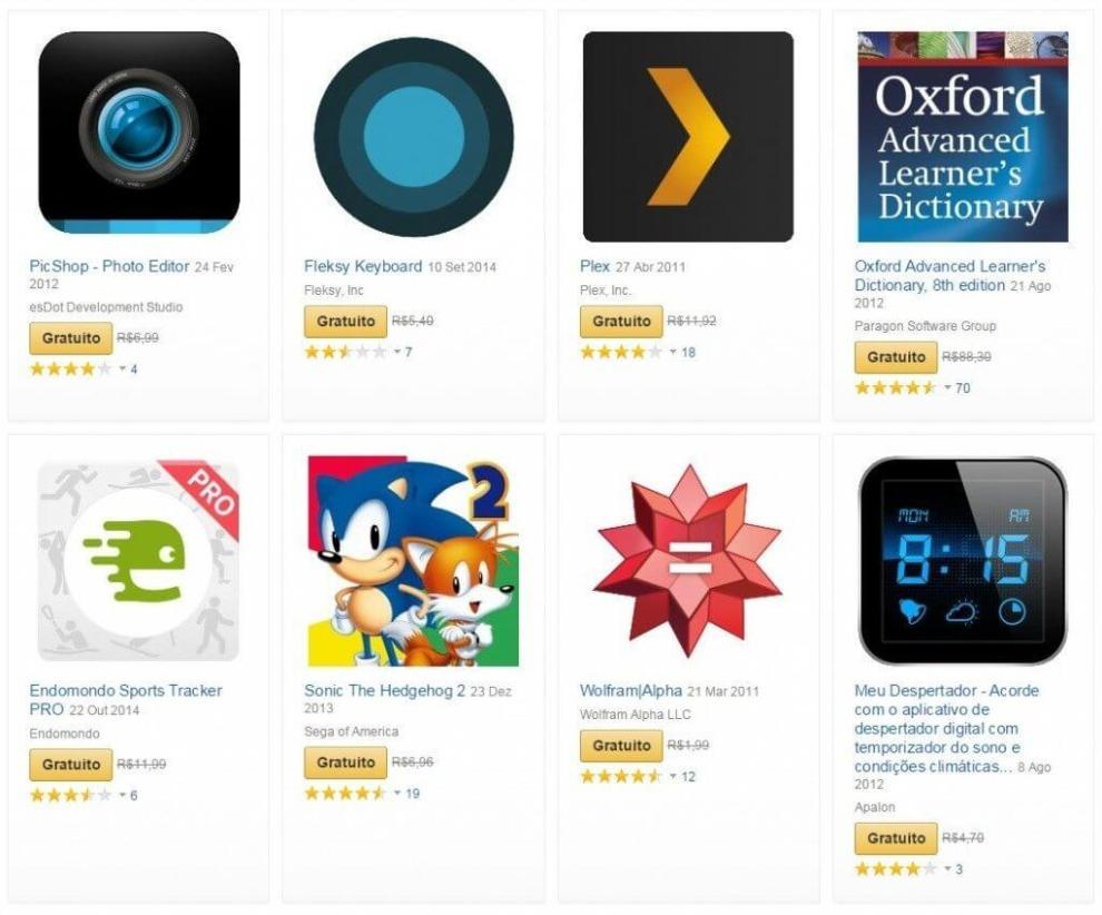 amazon oferece 40 apps gratuitos e descontos de ate 67 em varios - Amazon oferece 40 apps gratuitos e descontos de até 67% em outras opções
