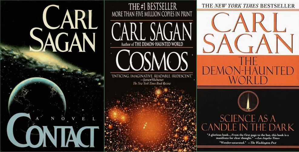 carl sagan livros - 35 anos de Cosmos