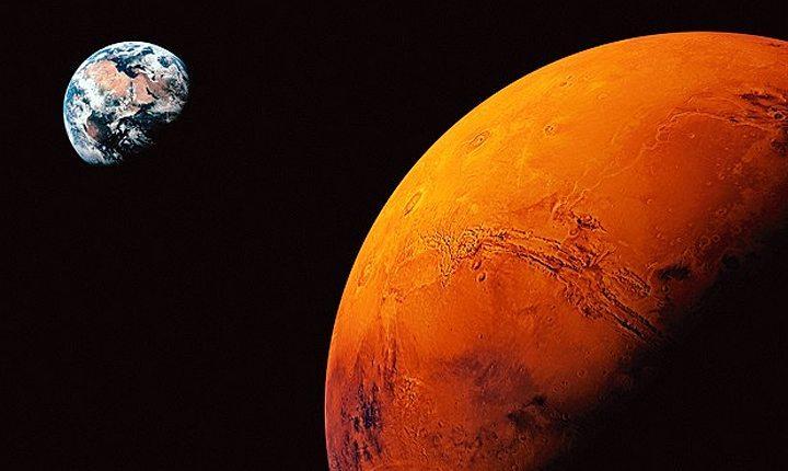 marte e terra - Cientistas podem ter encontrado evidências de vida em Marte