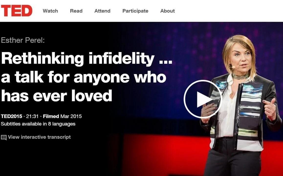smt capa - TED Talks: Repensando a infidelidade com Esther Perel