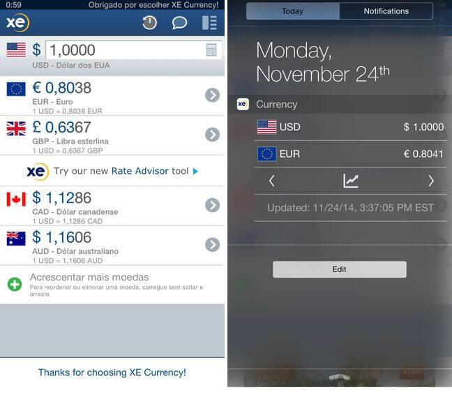 screen xecurrency ios - TOP APPS: 5 indicações de aplicativos para iOS - 07/11/2015