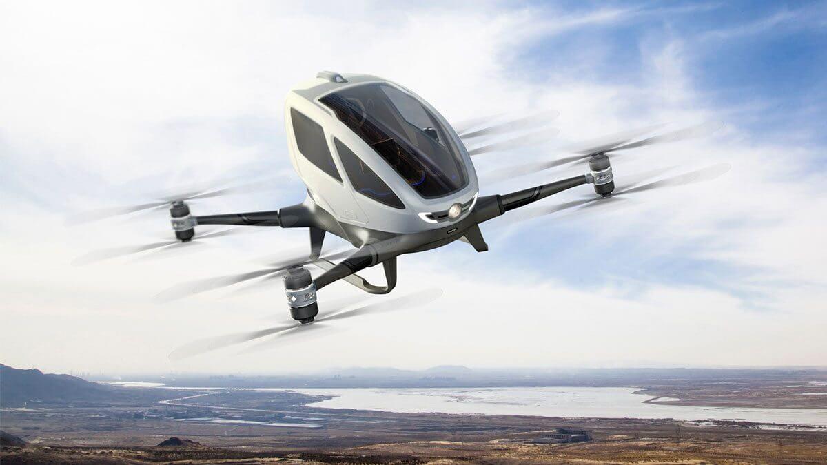 eHANG lança drone capaz de carregar um ser humano e voar a até 100 Km/h 8