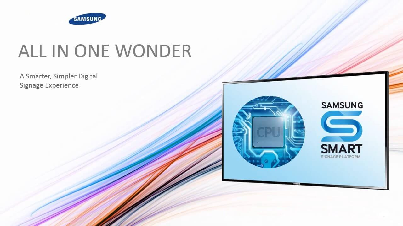 Samsung Smart Signage Capa - Samsung mostra as vantagens dos monitores para Smart Signage