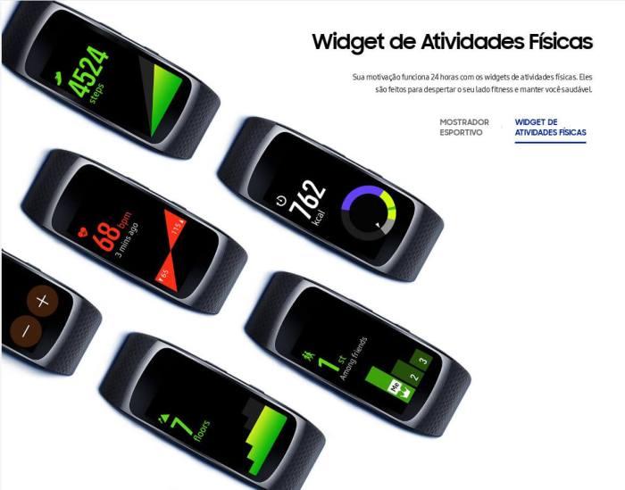 gear fit 2 widgets 720x565 - Review: Samsung Gear Fit2, para monitorar atividades com estilo