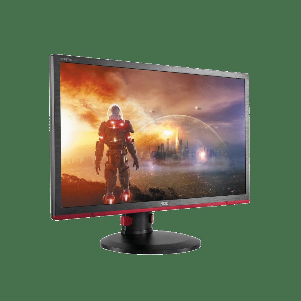G2460PF side to right game design - Review: AOC G2460PF - O monitor gamer que faz sentido