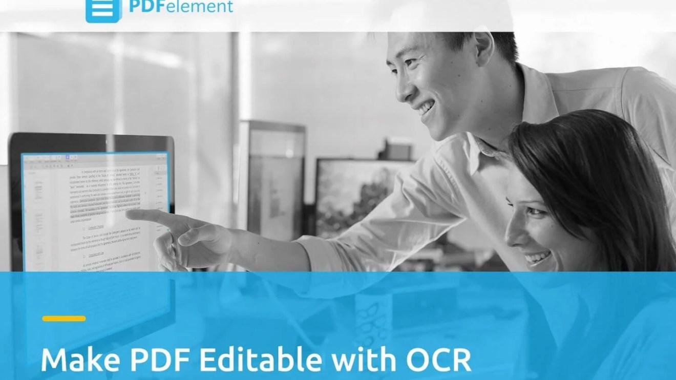 PDFelement OCR Capa - Edite documentos escaneados com a tecnologia OCR do Wondershare PDFelement