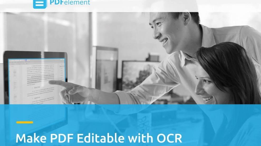 Edite documentos escaneados com a tecnologia OCR do Wondershare PDFelement 6