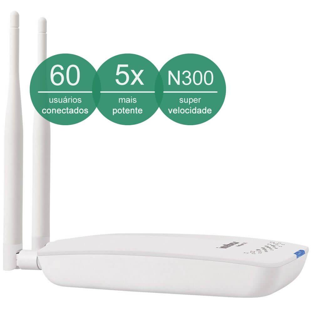 roteador wireless hotspot 300 frente - Roteador Intelbras promete aumentar o alcance da rede e promover sua empresa no Facebook