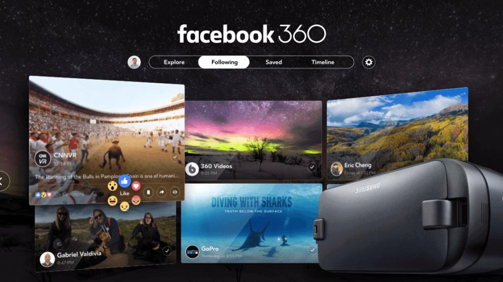Facebook 360 chega para Samsung Gear VR e garante experiência 360° completa 3