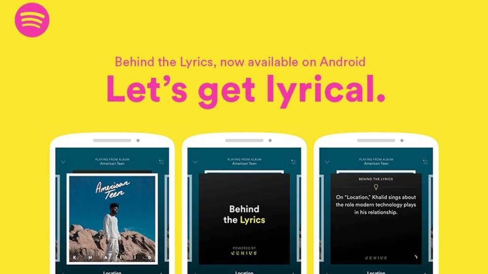 """Spotify lança função """"por trás das letras"""" para usuários Android; entenda!"""