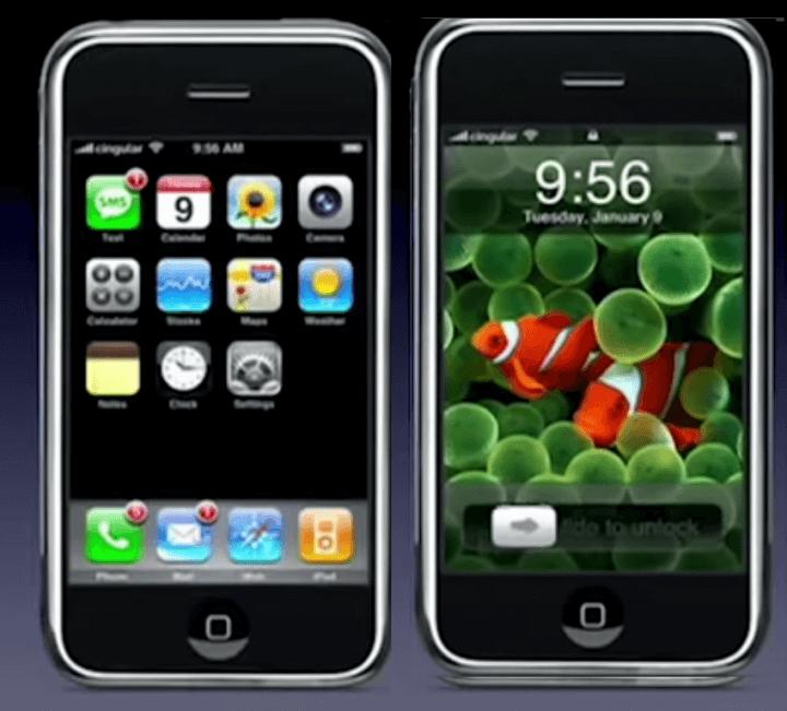 Apple OS 1 no primeiro iPhone