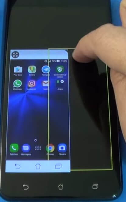 Tela reduzida no Zenfone 3