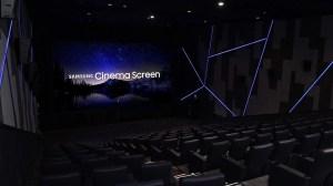 Samsung inaugura o primeiro cinema do mundo com um display LED 4K
