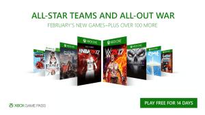 Xbox Game Pass: oito novos jogos em fevereiro de 2017
