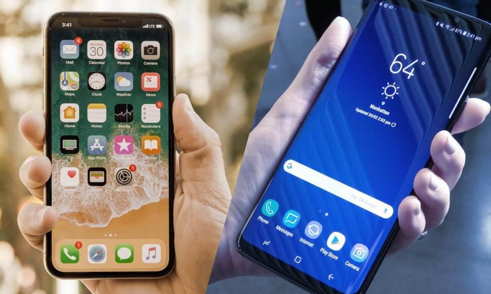 Comparativo: Samsung Galaxy S9+ vs Apple iPhone X 7