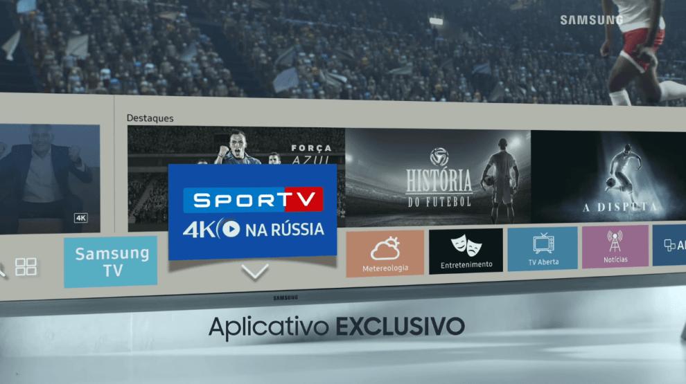 Samsung SporTV 4K - TV & Áudio:  como estar na Copa do Mundo sem sair da sala