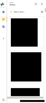 Novo gmail notas