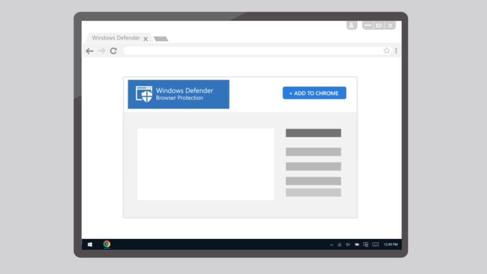 Tutorial: proteja-se de malwares com a extensão do Windows Defender para Google Chrome 4