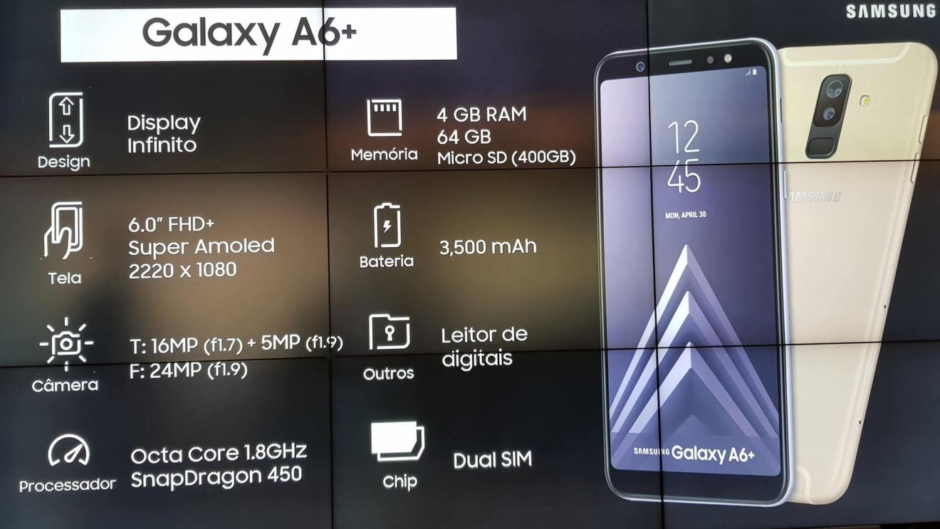 Galaxy A6+ chega ao Brasil com funções do S9+ e preço reduzido 11