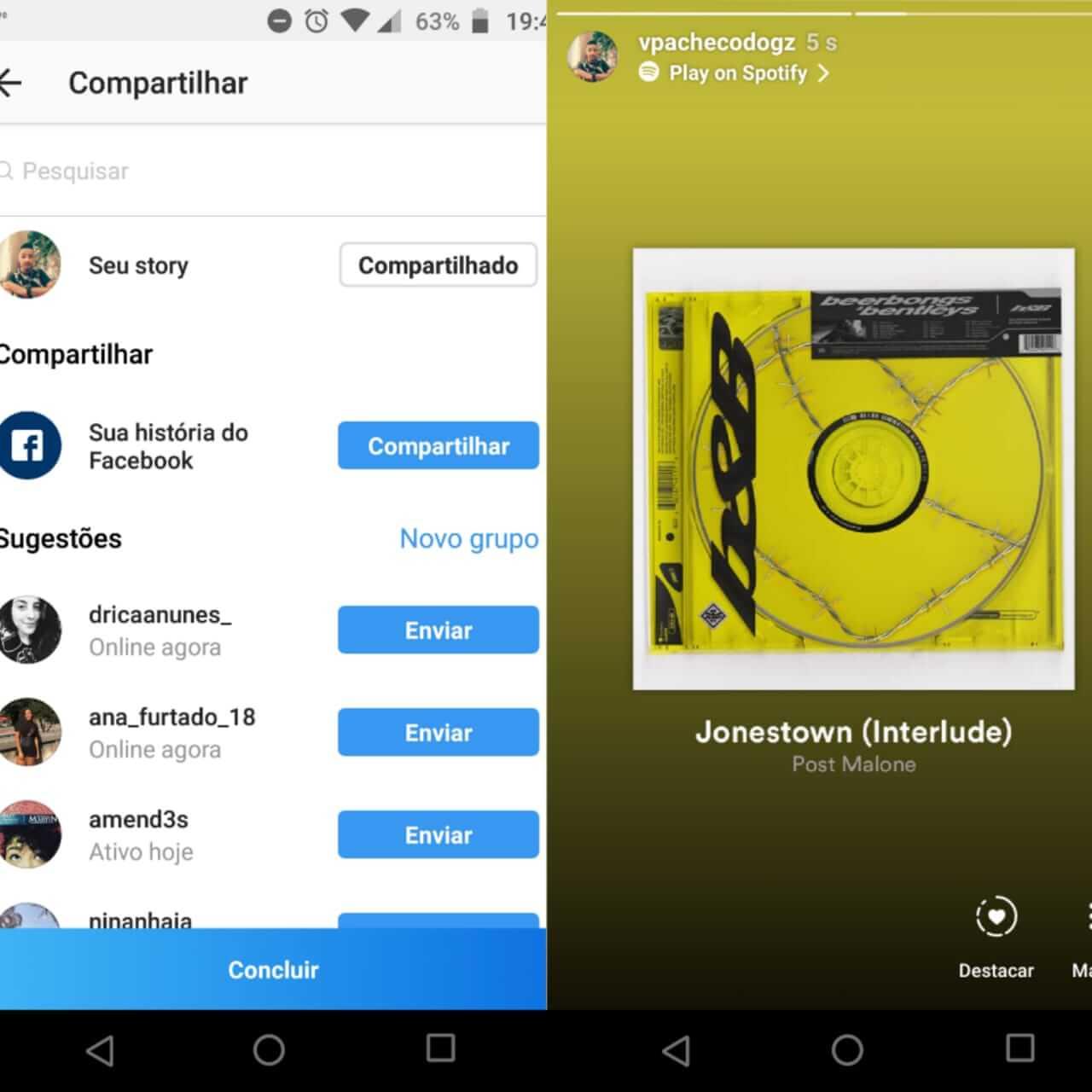 WhatsApp Image 2018 05 21 at 19.48.34 - Como compartilhar músicas do Spotify no Instagram