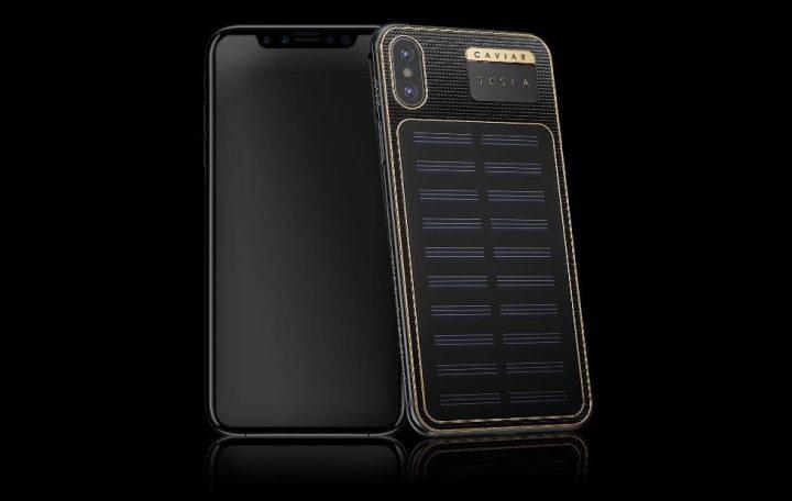 iphone x caviar 720x456 - Da Caviar, conheça o iPhone X Tesla, capa para iPhone com painel solar