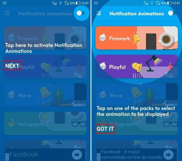 Como usar o Notification Animations para ter efeitos animados no Android 5