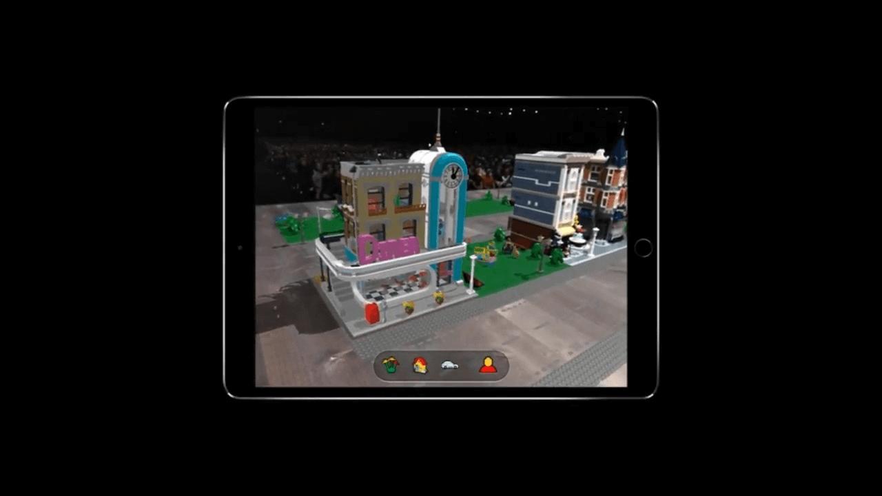 lego arkit - WWDC18: iOS 12 chega com Realidade Aumentada compartilhada e Notificações em Grupo