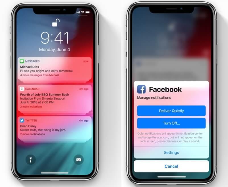 notificações ios 12 - WWDC18: iOS 12 chega com Realidade Aumentada compartilhada e Notificações em Grupo
